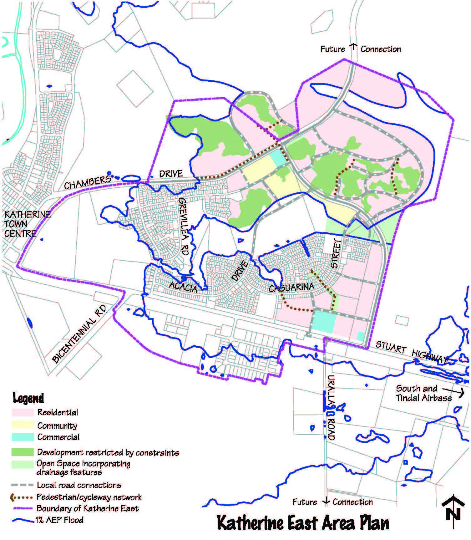 Map - Draft Katherine East Area Plan, including capable land