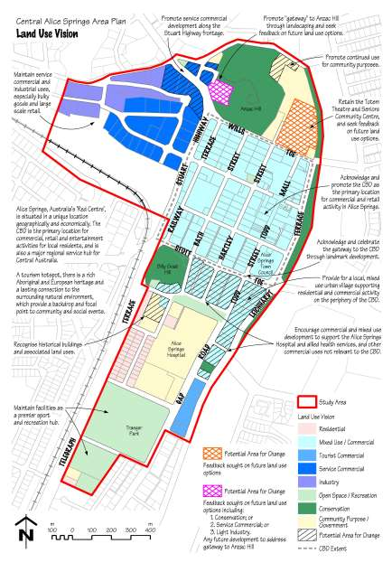 Central Alice Springs Area Plan - Stage 2 Consultation - Land Use Vision Map