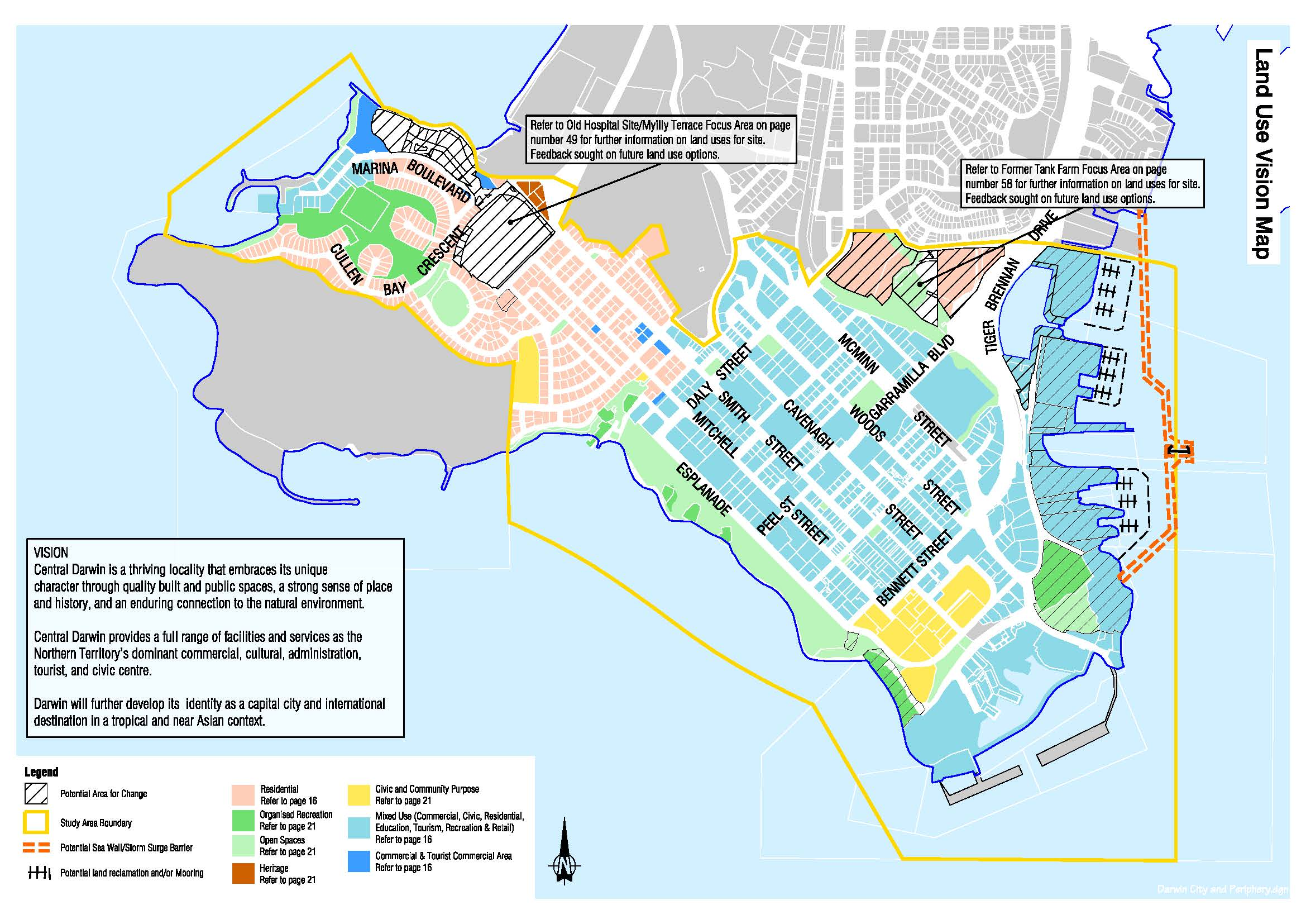 Land Use Vision Map for Central Darwin