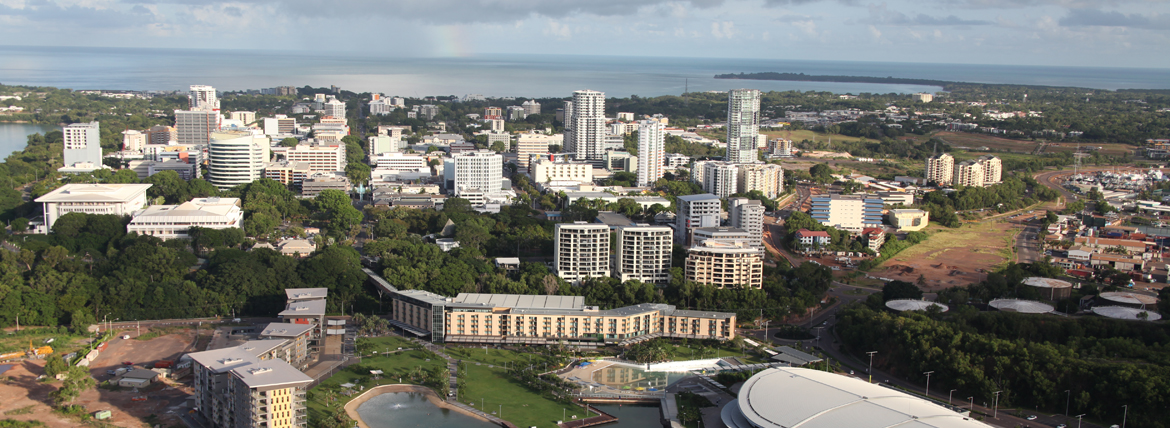 Aerial image of Darwin City
